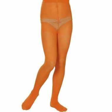 Oranje mailot voor meisjes 40 denier