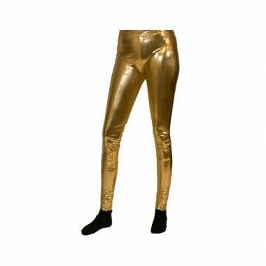 Verkleedkleding mailot goud dames