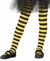 Maillot gestreept geel zwart voor meisjes